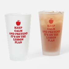 Keep Calm Teachers Drinking Glass