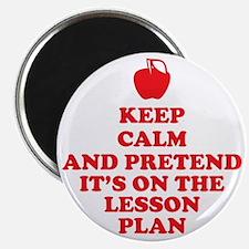 Keep Calm Teachers Magnet