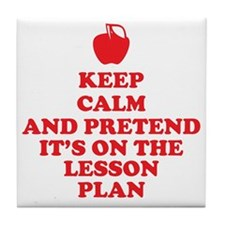 Keep Calm Teachers Tile Coaster