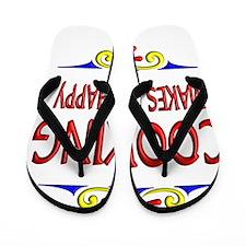 Cooking Happy Life Flip Flops