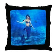 Rebecca Burton Magic Mermaid Throw Pillow