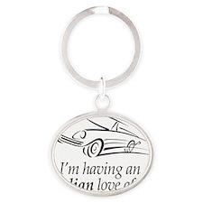 Lovely Italian Love Affair Oval Keychain