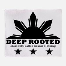 deep rooted Throw Blanket