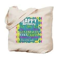 Birthday Subway Art Tote Bag