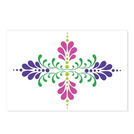 Floral Decoration Postcards (Package of 8)