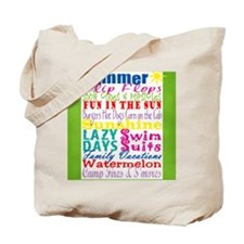 Summer Subway Art Tote Bag
