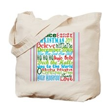 Christmas Subway art Tote Bag