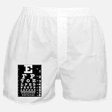 eyechart_full_page dark Boxer Shorts