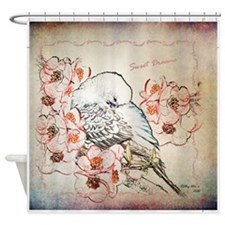 Parakeet Sweet Dreams Durvet Shower Curtain