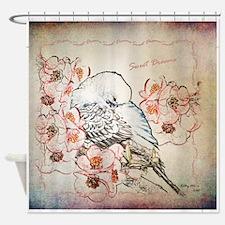 Parakeet Sweet Dreams Durvet Shower Curtain