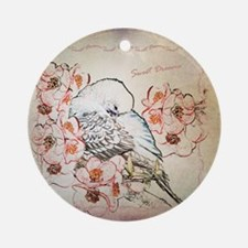 Parakeet Sweet Dreams Durvet Round Ornament