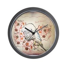 Parakeet Sweet Dreams Durvet Wall Clock