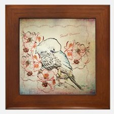 Parakeet Sweet Dreams Durvet Framed Tile