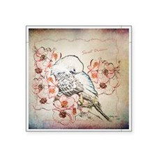 "Parakeet Sweet Dreams Durve Square Sticker 3"" x 3"""