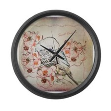 Parakeet Sweet Dreams Durvet Large Wall Clock