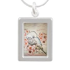 Parakeet Sweet Dreams Du Silver Portrait Necklace