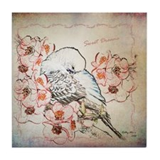 Parakeet Sweet Dreams Durvet Tile Coaster