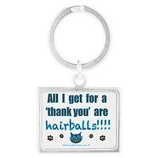 hairballs Landscape Keychain
