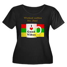 Wicked C Women's Plus Size Dark Scoop Neck T-Shirt