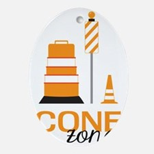 Cone Zone Oval Ornament