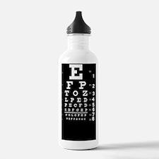 eyechart_full_page dar Water Bottle