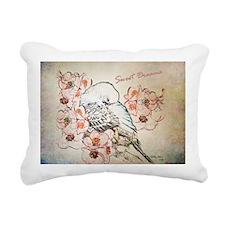 Parakeet 004 - Sweet Dre Rectangular Canvas Pillow
