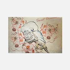 Parakeet 004 - Sweet Dreams Pillo Rectangle Magnet