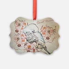 Parakeet 004 - Sweet Dreams Pillo Ornament