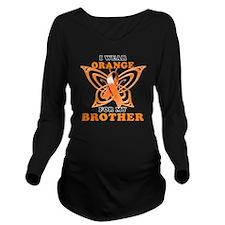 I Wear Orange for my Long Sleeve Maternity T-Shirt