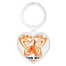 I Wear Orange for my Wife Heart Keychain