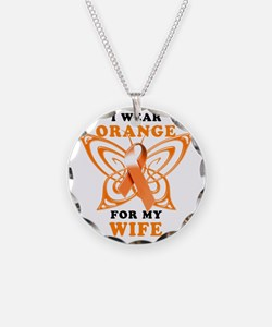 I Wear Orange for my Wife Necklace Circle Charm