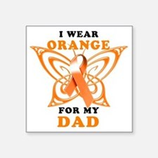 "I Wear Orange for my Dad Square Sticker 3"" x 3"""