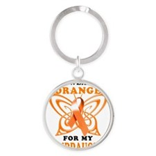 I Wear Orange for my Granddaughter Round Keychain