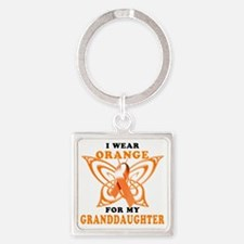 I Wear Orange for my Granddaughter Square Keychain
