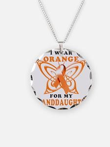 I Wear Orange for my Grandda Necklace Circle Charm