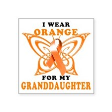 "I Wear Orange for my Grandd Square Sticker 3"" x 3"""