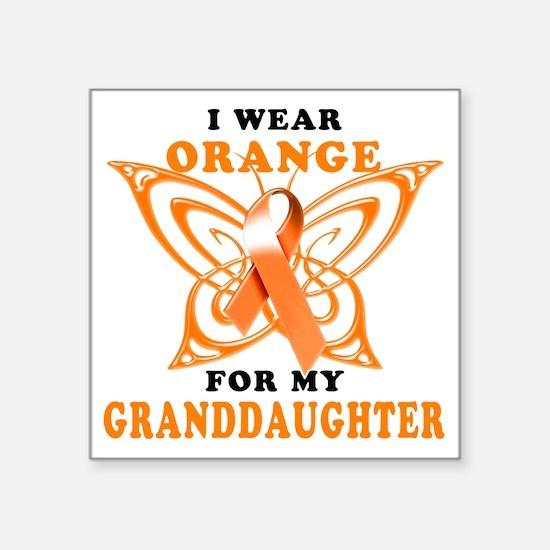 """I Wear Orange for my Grandd Square Sticker 3"""" x 3"""""""