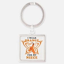 I Wear Orange for my Niece Square Keychain