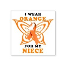 "I Wear Orange for my Niece Square Sticker 3"" x 3"""