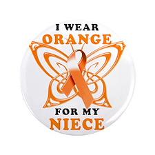 "I Wear Orange for my Niece 3.5"" Button"