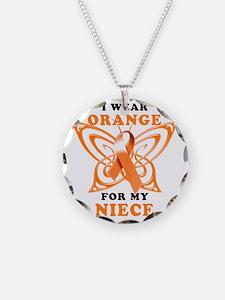 I Wear Orange for my Niece Necklace