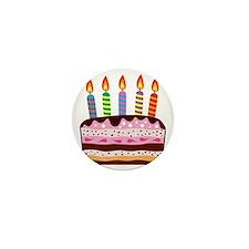 Birthday Cake Mini Button