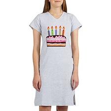 Birthday Cake Women's Nightshirt