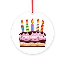 Birthday Cake Round Ornament