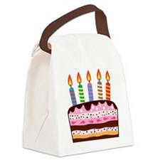 Birthday Cake Canvas Lunch Bag