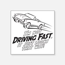 "Fast Driving Italian Square Sticker 3"" x 3"""