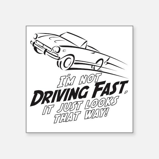 "Fast Driving Italian Square Sticker 3"" x 3"""