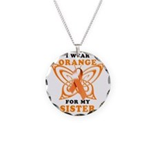 I Wear Orange for my Sister Necklace Circle Charm