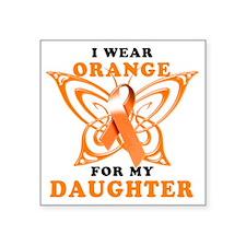"I Wear Orange for my Daught Square Sticker 3"" x 3"""
