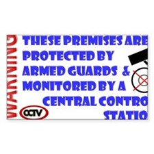 SECURITY ARMED GUARDS Decal